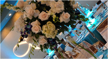 Wedding Flowers - Wedding Tall Table Centerpieces